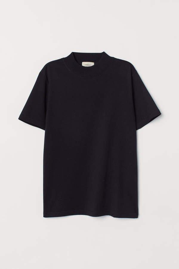 Silk-blend T-shirt - Black