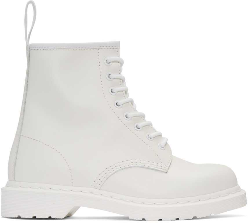 Dr. Martens White 1460 Mono Boots men,doc martens sandals,beautiful in colors, doc martens clearance boots luxurious Collection