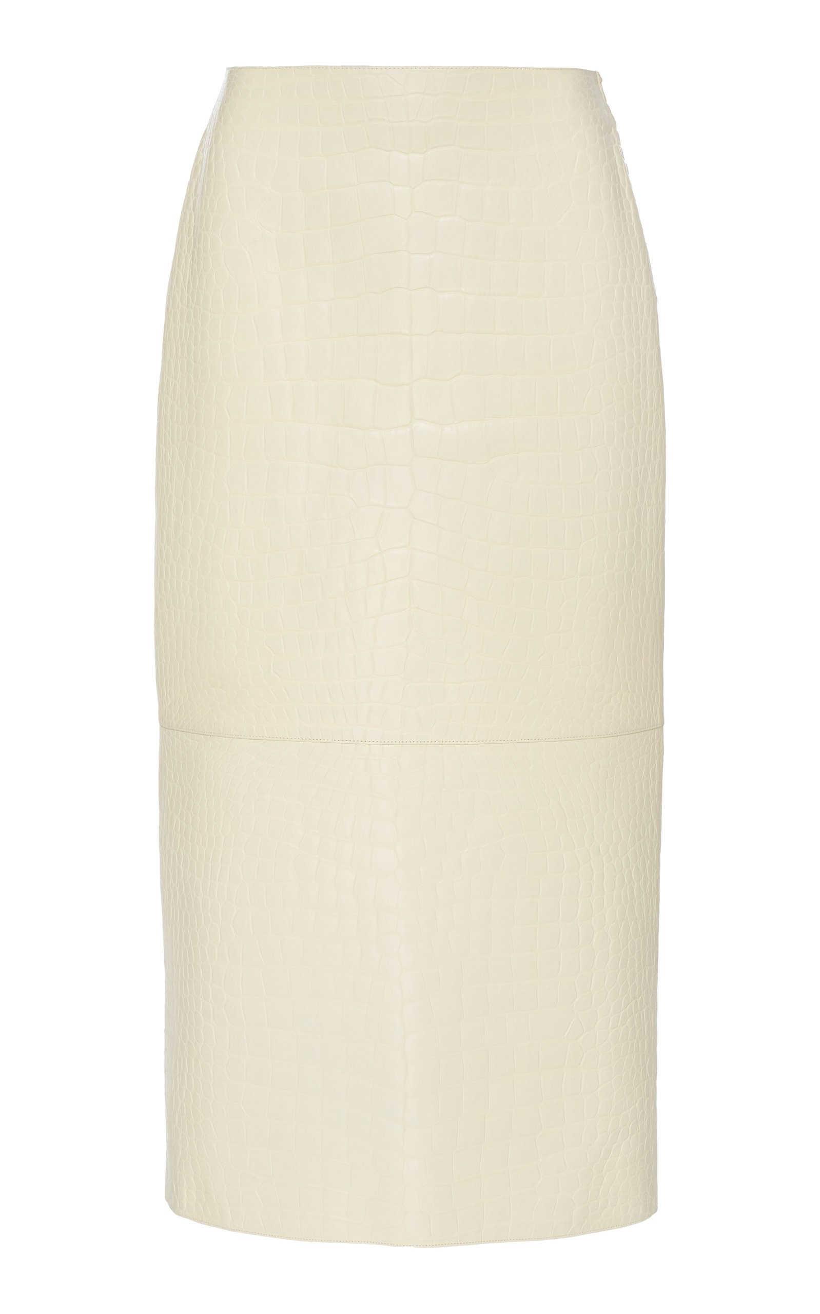 The Row Jenna Crocodile Midi Skirt Size: 10