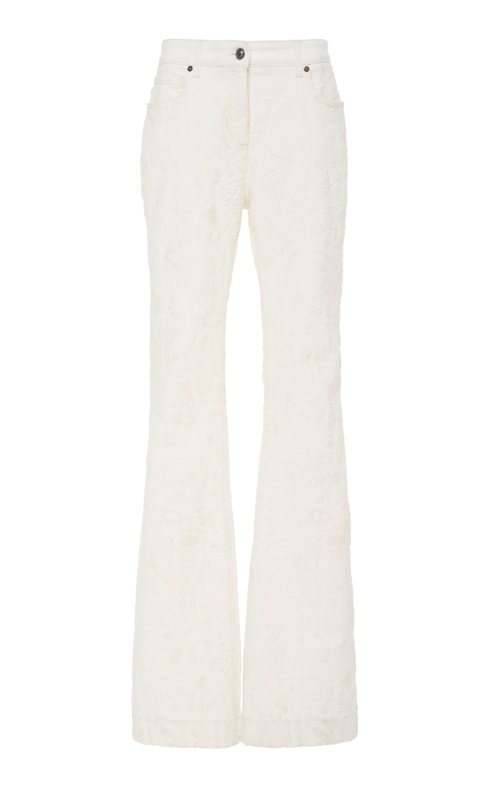 Etro Embroidered High-Waist Pants