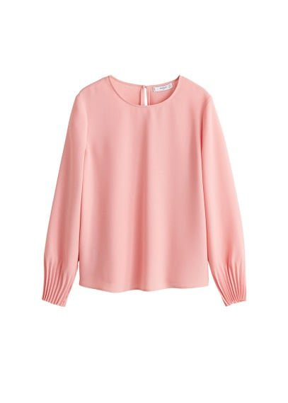 MANGO Pleated sleeves blouse
