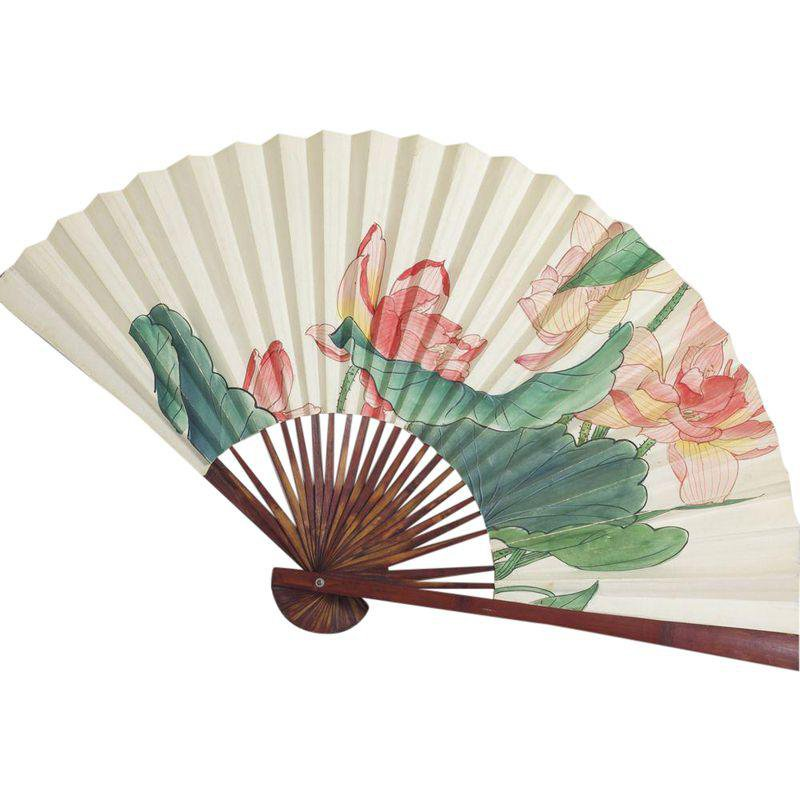 Large Floral Asian Fan in 2018   Products   Pinterest   Asian home decor, Asian and Home Decor