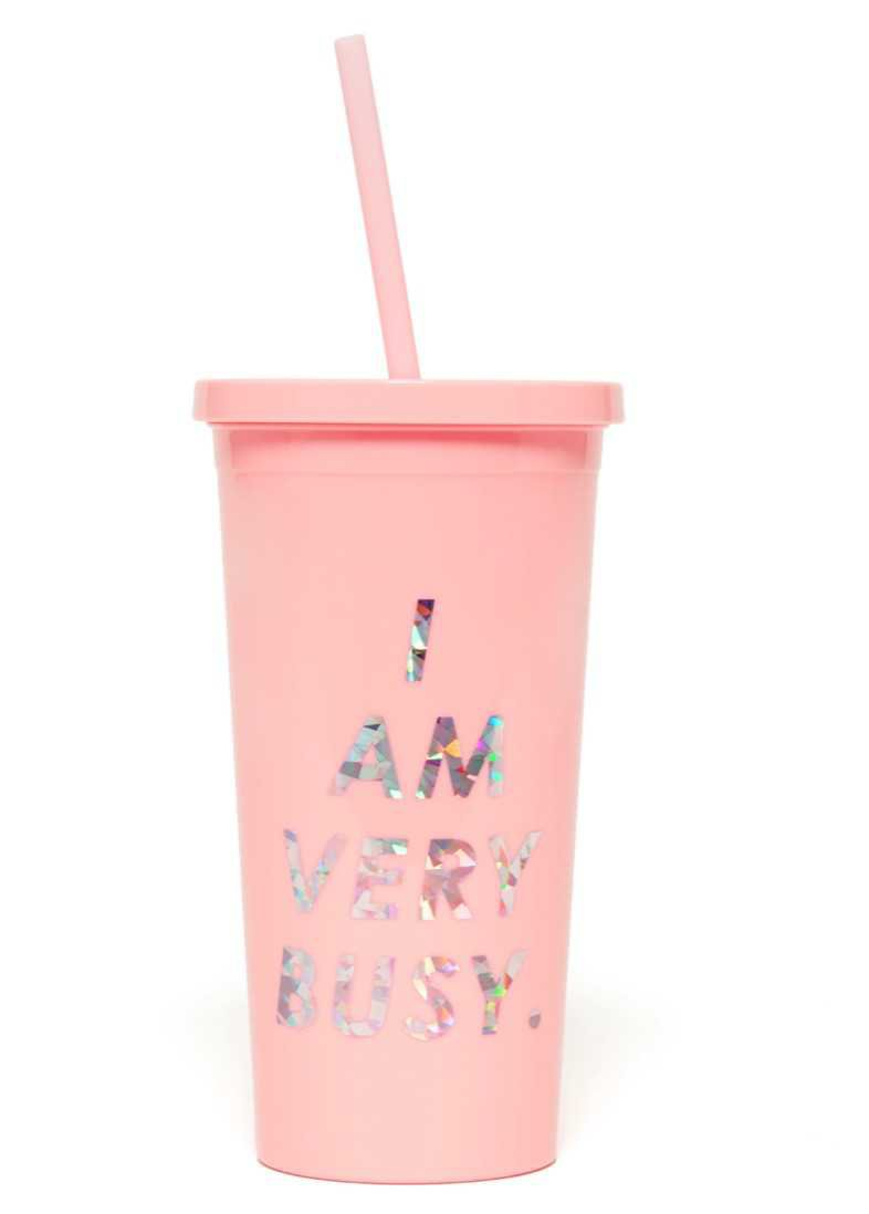 pink sip sip tumbler with straw