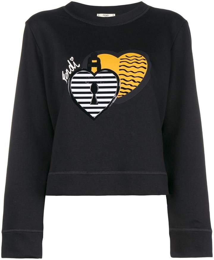 patch embellished sweatshirt