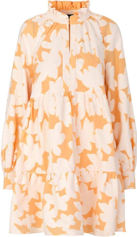 Stine Goya Jasmine Floral Long Sleeve Tiered Dress Size: XS
