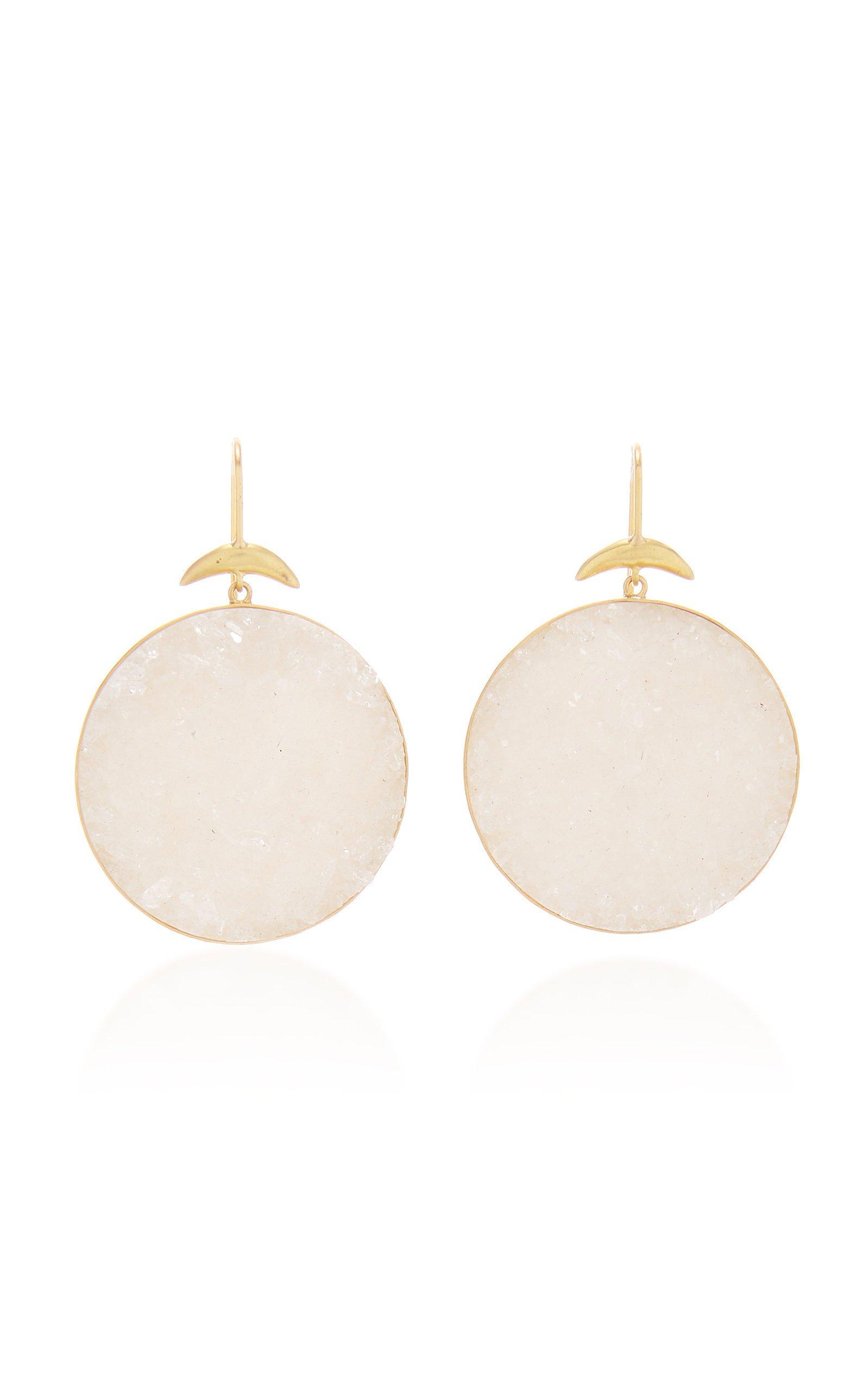 Annette Ferdinandsen Crystal Drusy Luna Earrings