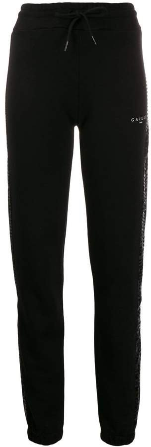 embellished side panel track pants