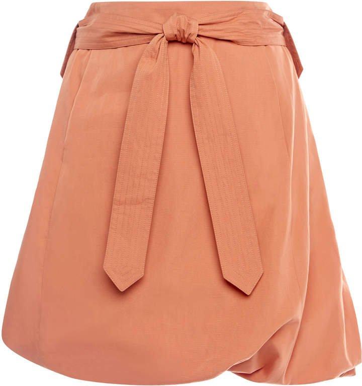 Salvatore Ferragamo Cotton-Poplin Mini Skirt Size: 40