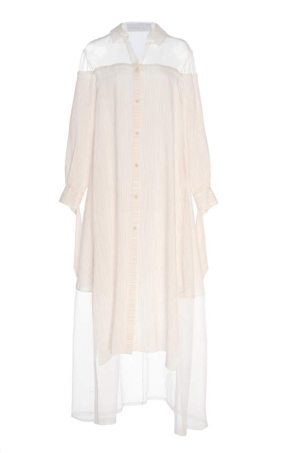 Noon by Noor Guildford Cotton-Blend Off-The-Shoulder Dress