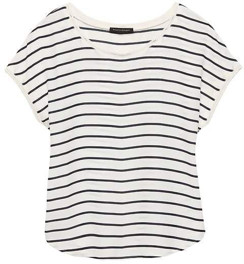 Stripe Picot-Trim Top