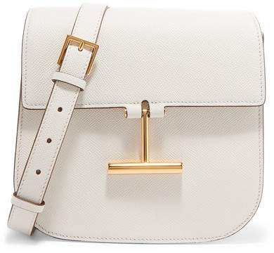 Tara Mini Textured-leather Shoulder Bag - White