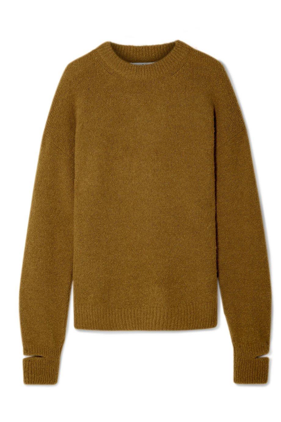 Tibi   Airy oversized alpaca-blend sweater   NET-A-PORTER.COM