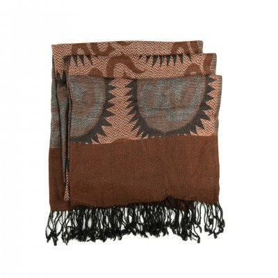 Pure Pashmina Brown Handwoven Shawl | Mystic Self LLC