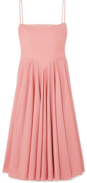 The Woolmark Company Nico Merino Wool Midi Dress - Pink
