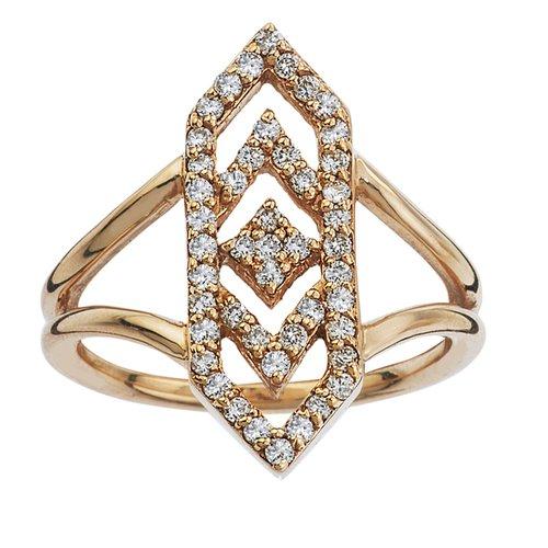 Gianna Ring with Diamonds in 14k Yellow Gold GiGi Ferranti Jewelry