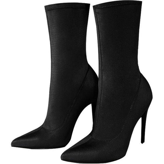 Black Stiletto Heel Boots
