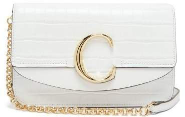 The C Mini Leather Shoulder Bag - Womens - White