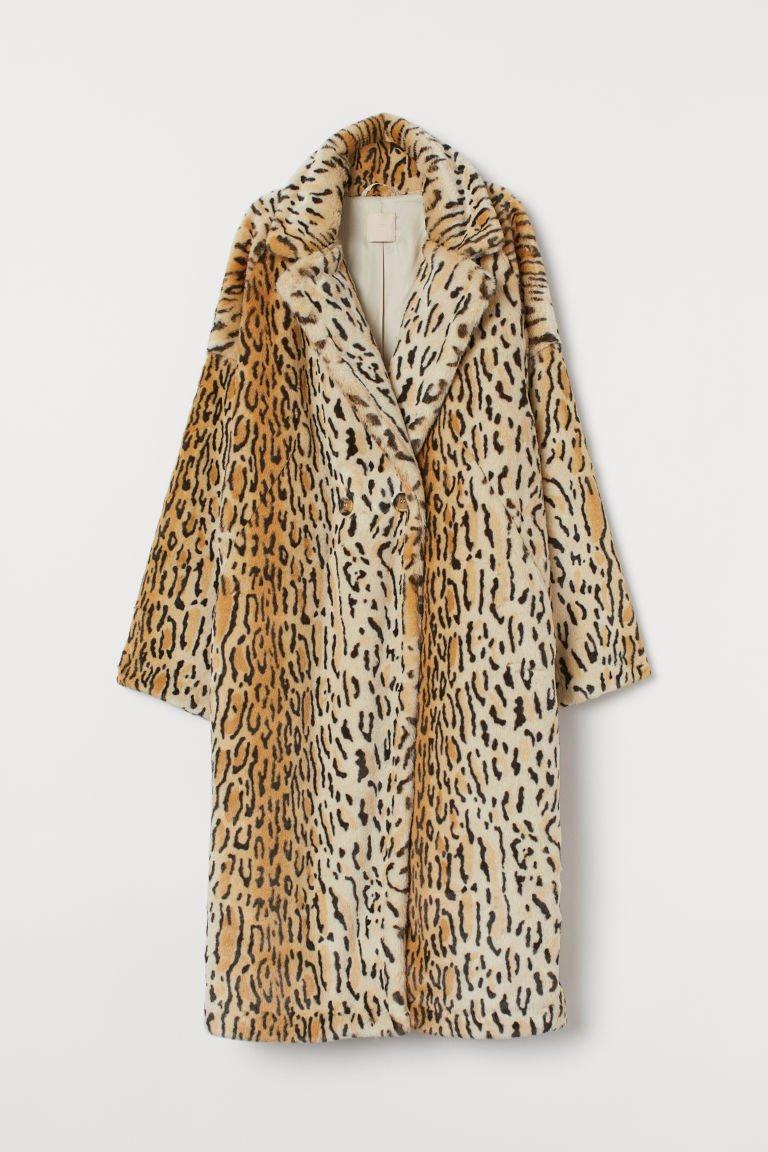 Faux Fur Coat - Beige/leopard print - Ladies | H&M US