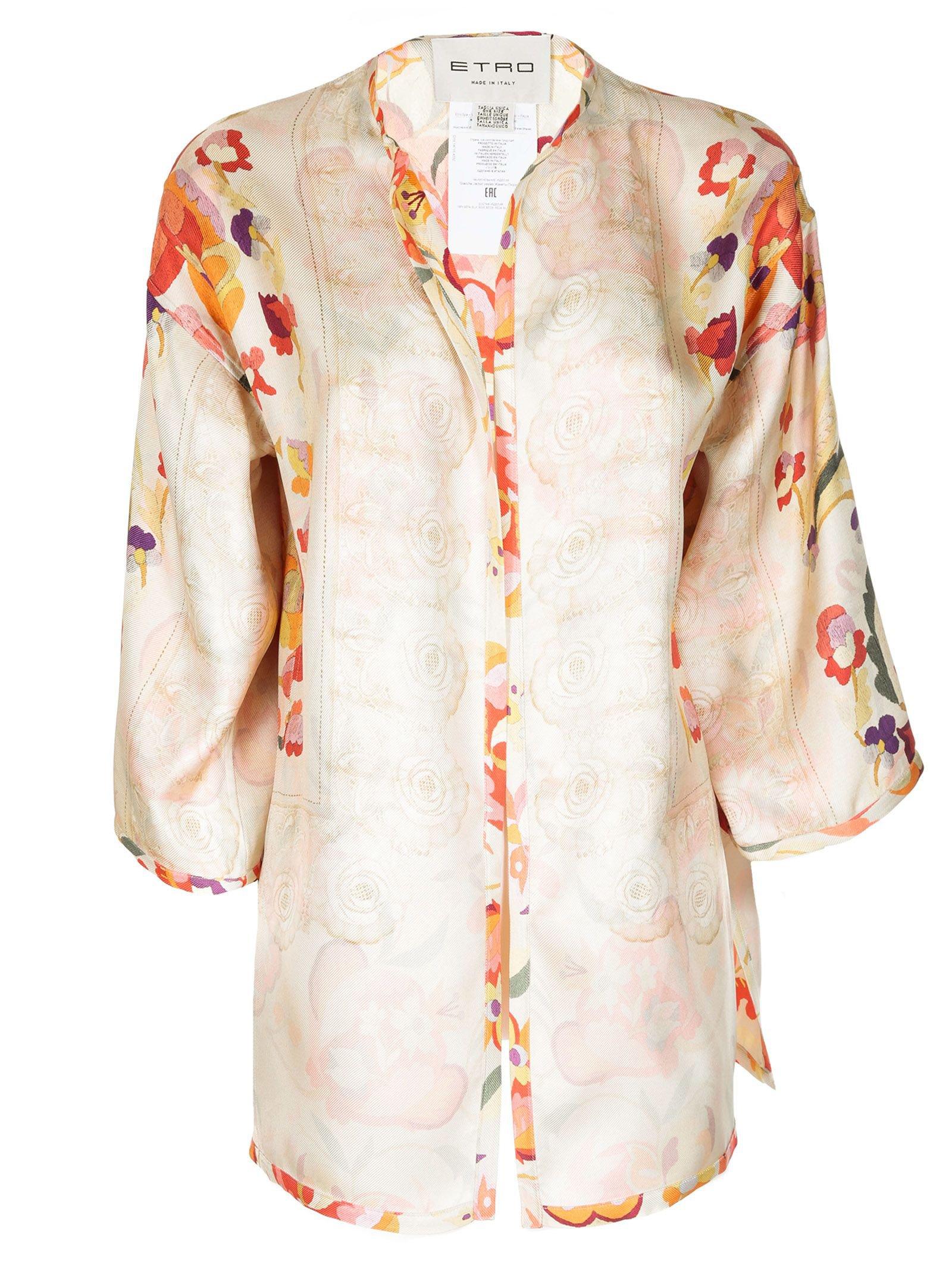 Etro Floral Print Kimono Jacket