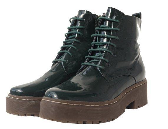 CHUNKY dark green PLATFORM boots / rubber sole / grunge / | Etsy