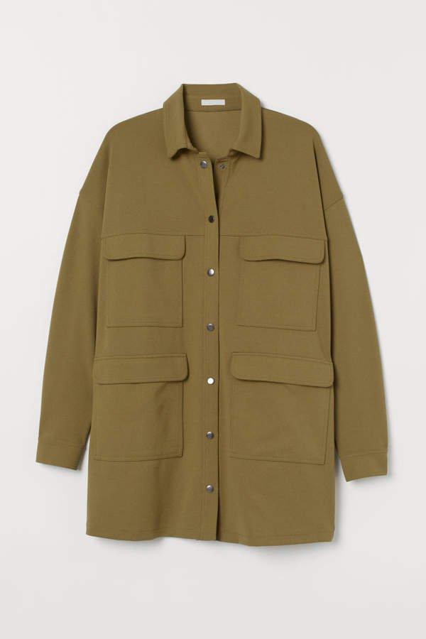 Short Shirt Dress - Green