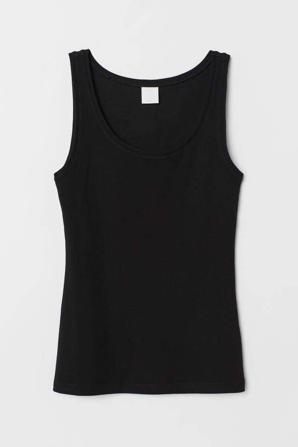 Jersey Tank Top - Black