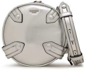 Studded Metallic Leather Shoulder Bag