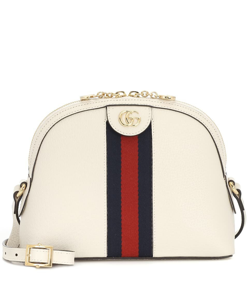 Ophidia Small Leather Shoulder Bag - Gucci | Mytheresa