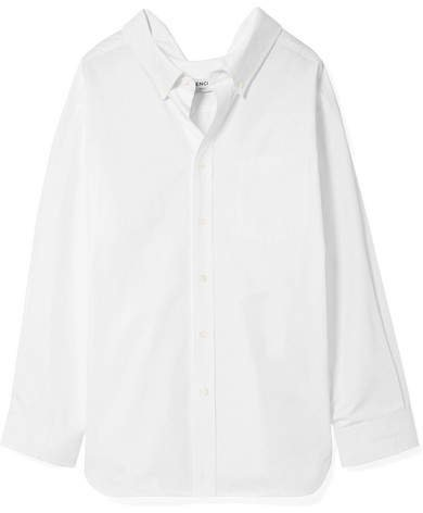 Swing Cotton-poplin Shirt - White