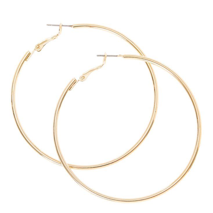 Gold 60MM Hoop Earrings | Claire's