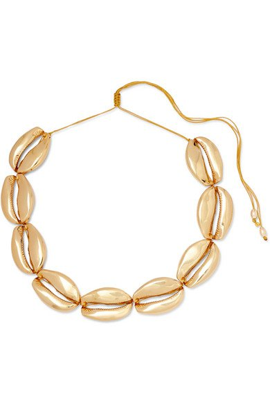 Tohum | Mega Puka gold-plated necklace | NET-A-PORTER.COM