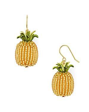 Kate Spade By The Pool Pineapple Drop Earrings In Gold Multi | ModeSens