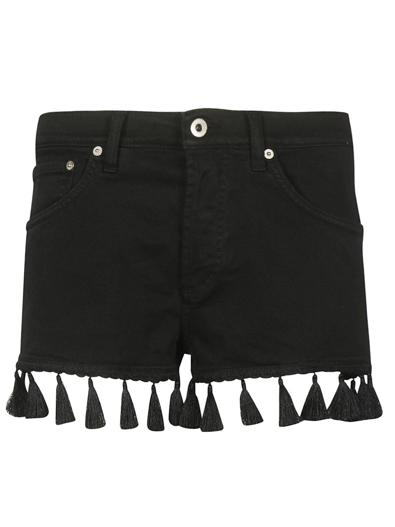 Dondup Short Denim Fringed Shorts