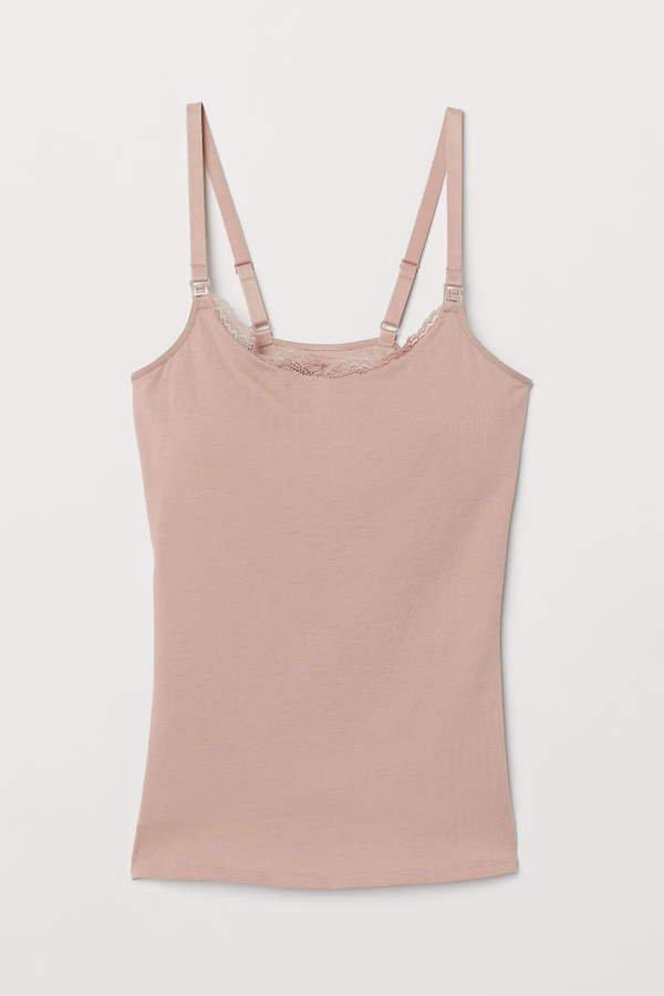 MAMA Camisole with Shelf Bra - Pink
