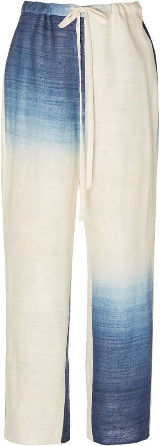Tie-Dye Silk Wide-Leg Pants