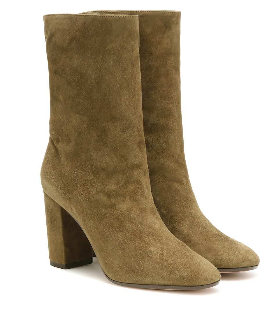 Boogie 85 Suede Ankle Boots | Aquazzura - Mytheresa