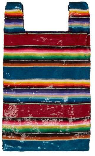 Striped Sequined Bag - Womens - Multi