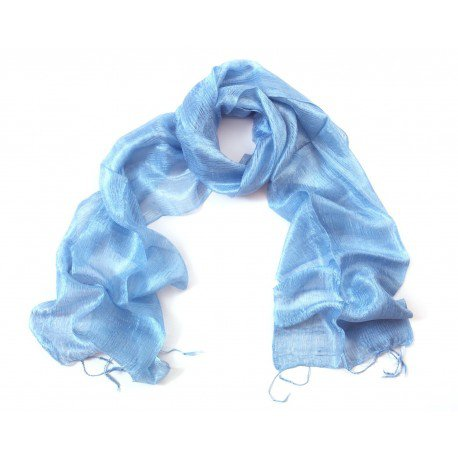 Pale Blue Silk Scarf - Foot in the East
