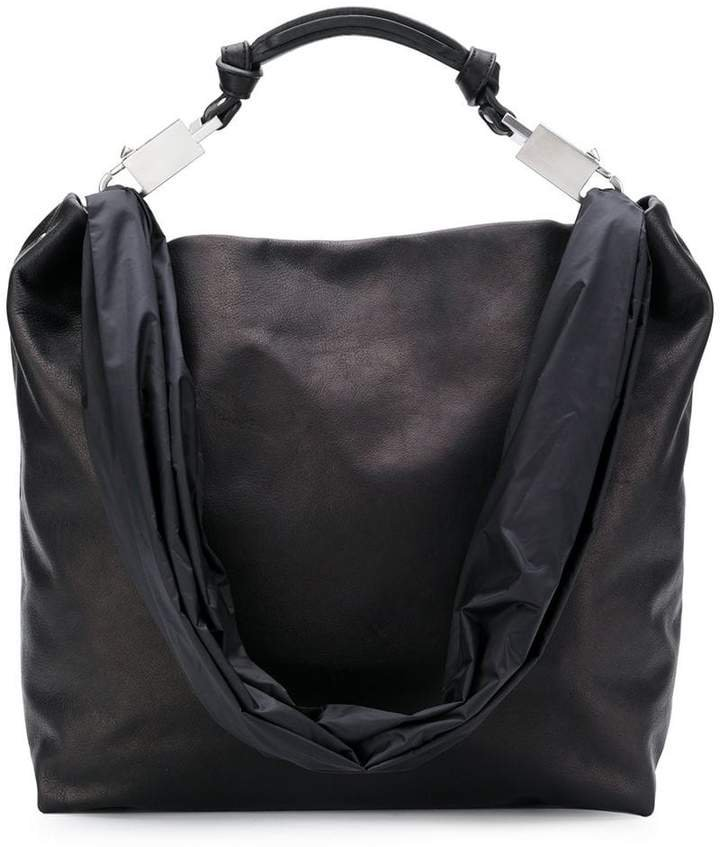 oversized top-handle tote