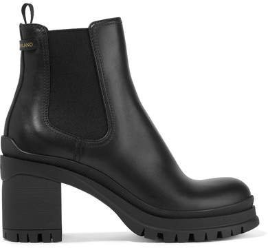 55 Leather Chelsea Boots - Black