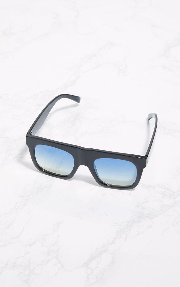 Black Wide Frame Square Sunglasses   PrettyLittleThing