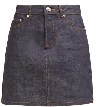 Jupe Standard Raw Denim Mini Skirt - Womens - Indigo