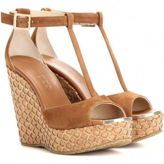 Jimmy Choo Pela Suede Wedge Sandals ($470)