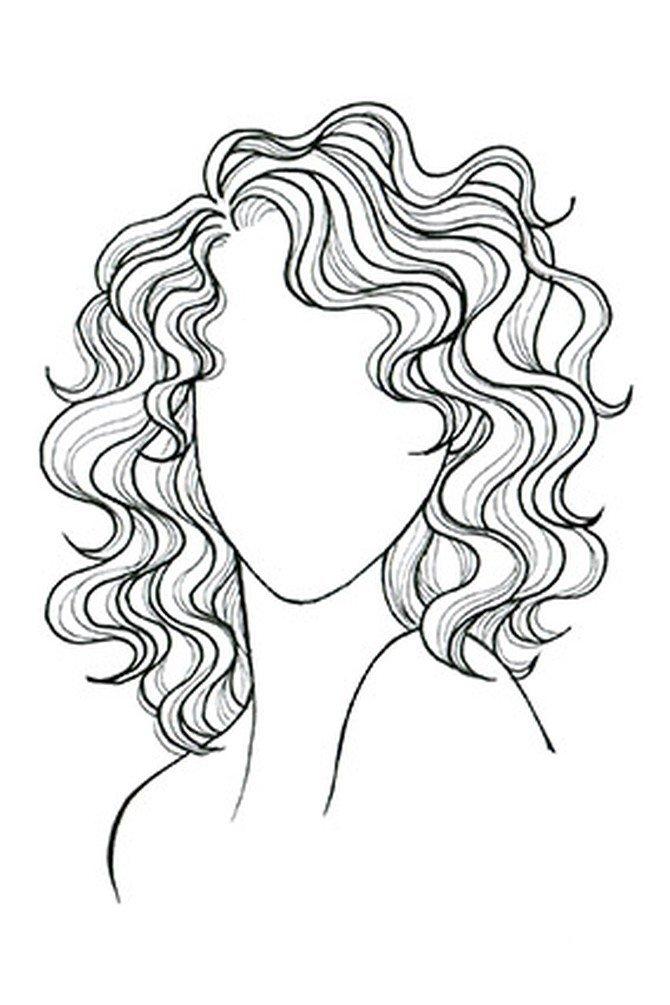 hair curls drawing - Google zoeken
