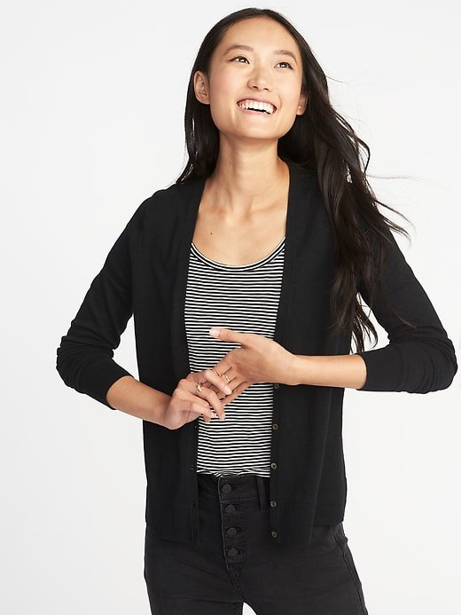 V-Neck Button-Front Cardi for Women | Old Navy