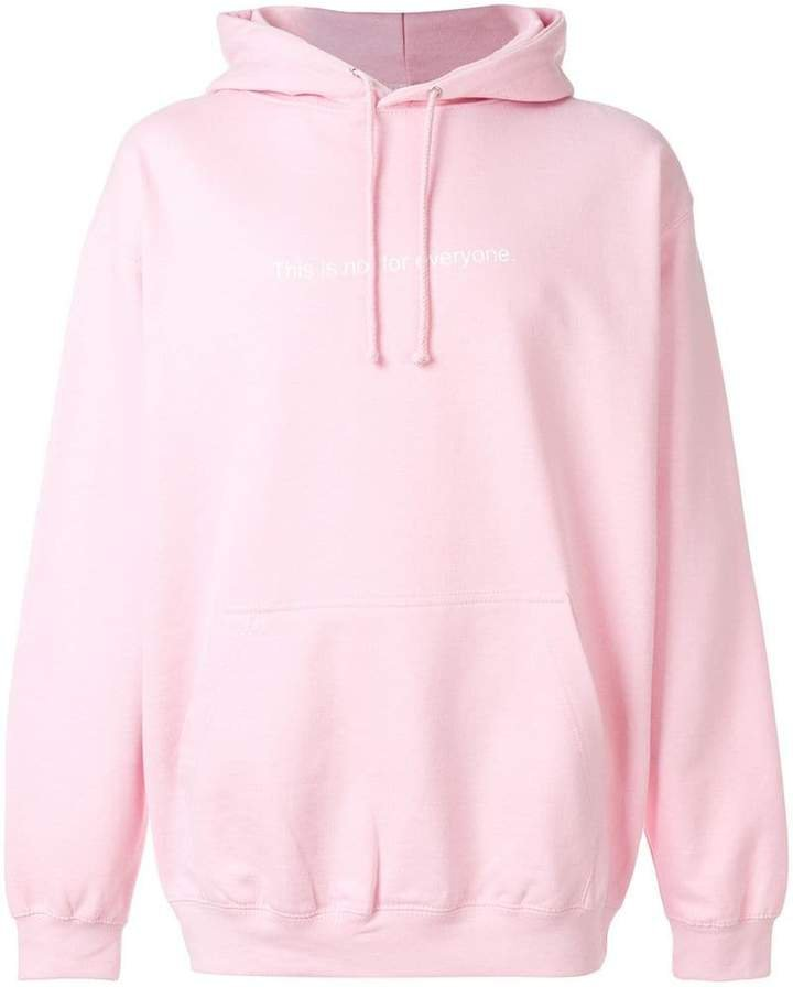 F.A.M.T. slogan-detail hoodie