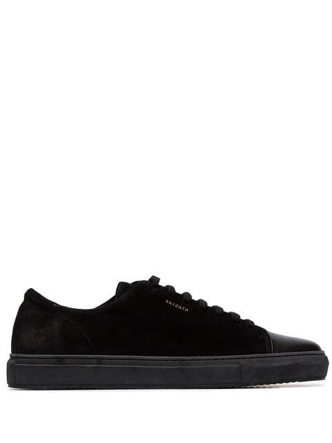 Axel Arigato Black Captoe low-top suede sneakers