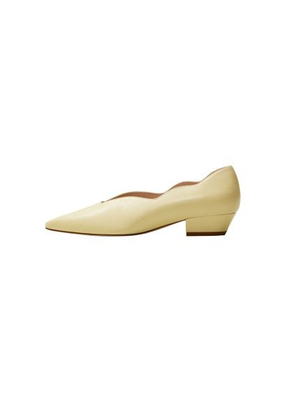 MANGO Pointed toe leather shoes