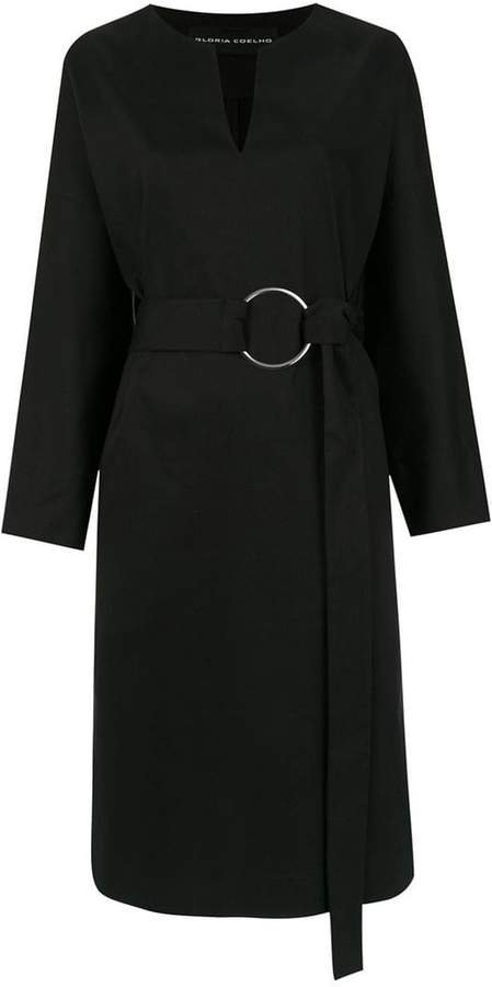 Gloria Coelho midi belted dress