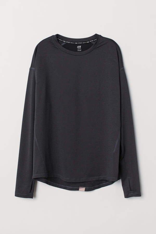 Long-sleeved Sports Top - Black
